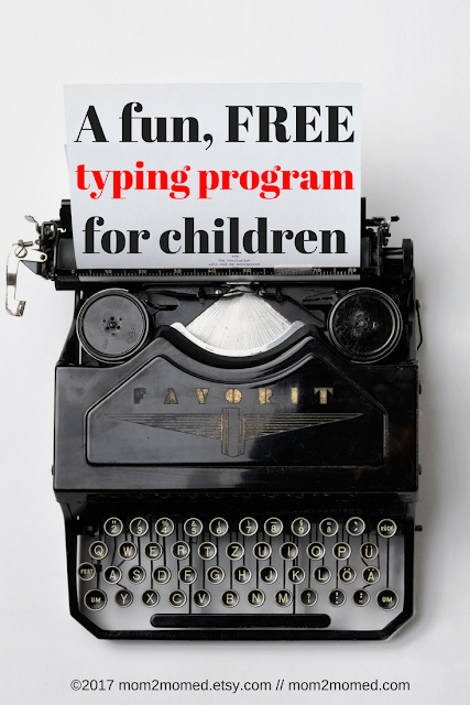 Mom2MomEd: A fun, FREE typing program for children
