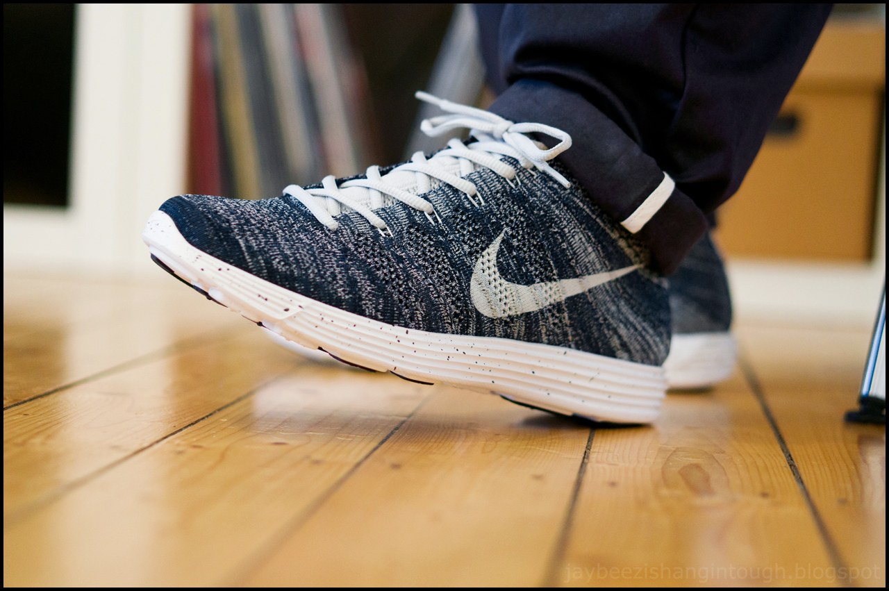 huge discount d603f 49926 on my feet. nike lunar flyknit ...