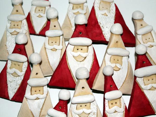 DIY Salzteig Weihnachtsmänner