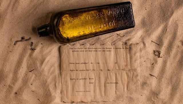 Найдено старейшее послание в бутылке