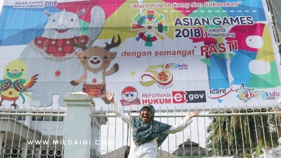 Dari Bengkulu Ke Palembang Demi Dukung Bersama Asian Games 2018