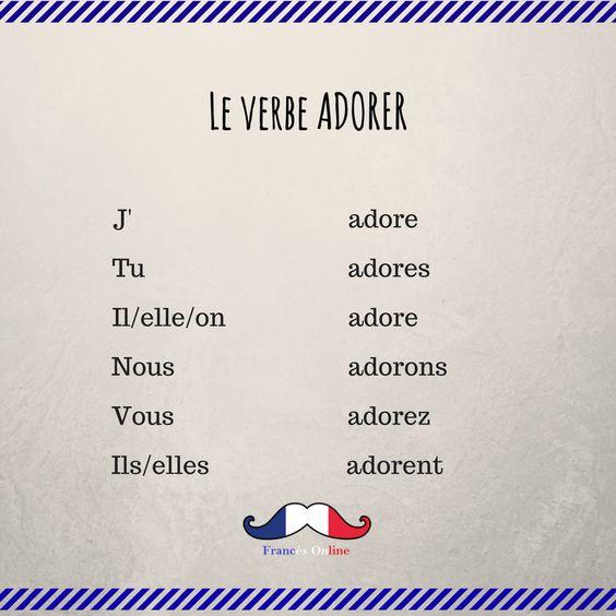 Czasowniki pierwszej grupy - odmiana czasownika adorer - Francuski przy kawie