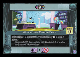 My Little Pony Wonderbolts Reserve Exam The Crystal Games CCG Card