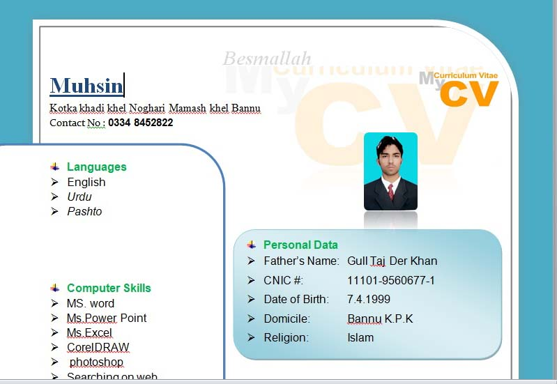 Cv Project Resume Format In Ms Word 2007 Download Full Tutorial In