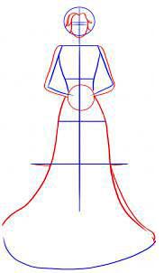 Langkah 2. Cara Mudah Sketsa Gaun Pengantin Wanita