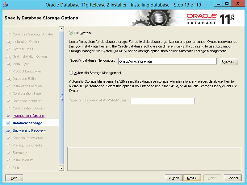 how to install oracle 11g database on windows server pr