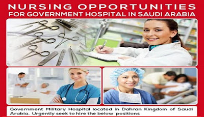 Nursing Opportunities for Government Hospital in Saudi Arabia