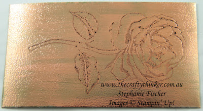 #thecraftythinker, #fauxcopperpatina , Graceful Garden, faux engraved copper with patina, Stampin' Up Australia Demonstrator, Stephanie Fischer, Sydney NSW