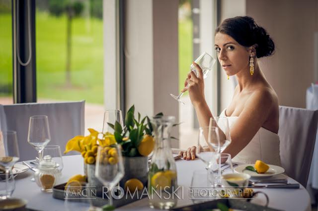 Cytrynowy jako kolor przewodni ślubu i wesela.