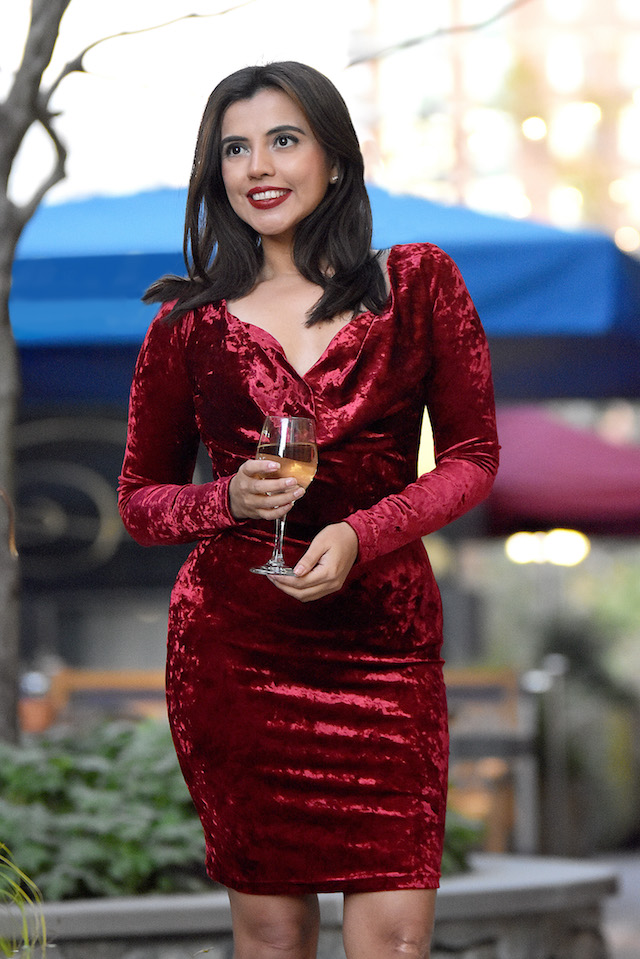 Velvet Dress For Thanksgiving