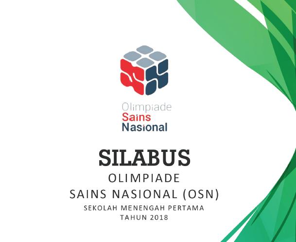 Silabus Olimpiade Sains Nasional Siswa SMP 2018