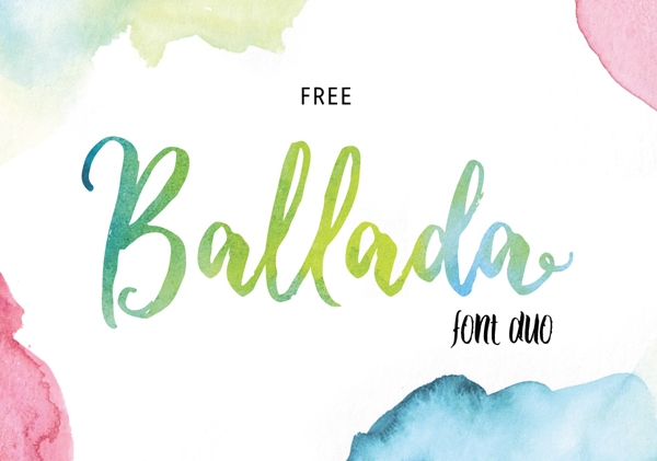 Download Font Terbaru 2018 - Ballada Free Font