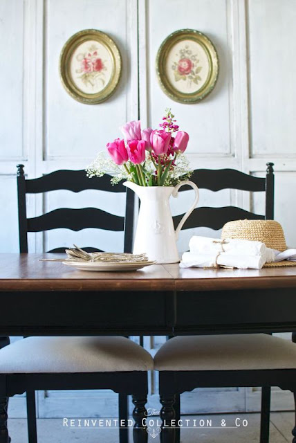 Reinvented Collection & Co.- French Farmhouse Dining Room-Weekly Blog Link Up Party-Treasure Hunt Thursday- From My Front Porch To Yours