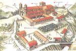 Las distintas dependencias o estancias de las que se compone un monasterio