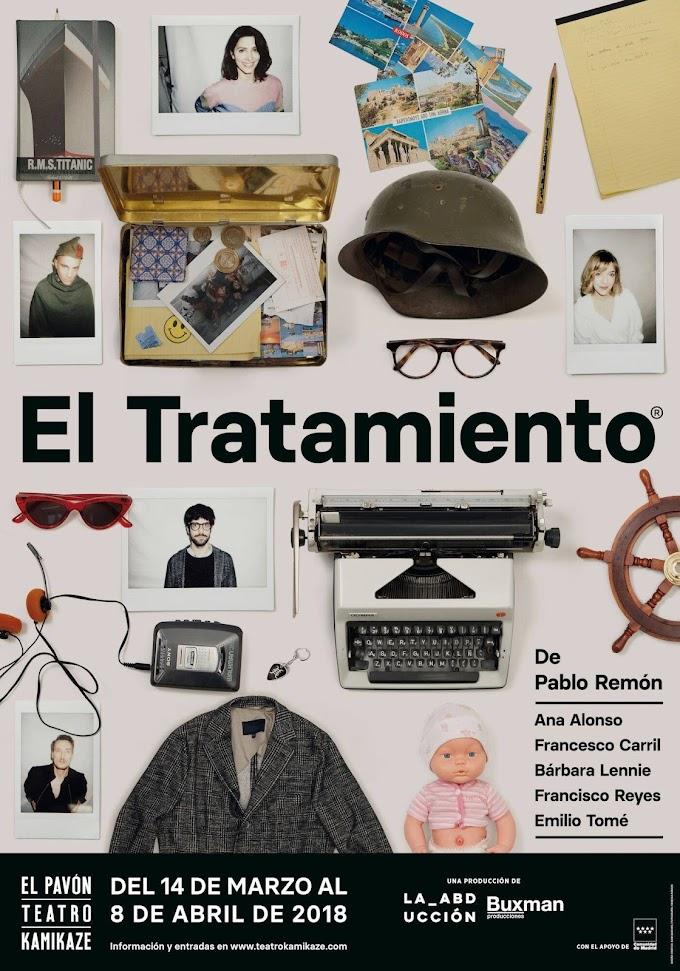 """Teatro: """"El tratamiento"""" en El Pavón Teatro Kamikaze"""