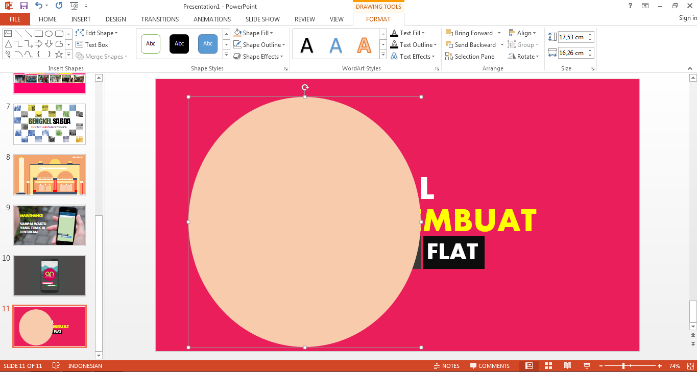 Tutorial Membuat Gambar Ala Flat Design Dari Power Point