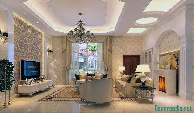 New pop ceiling designs for living room 2019, false ceiling design ideas
