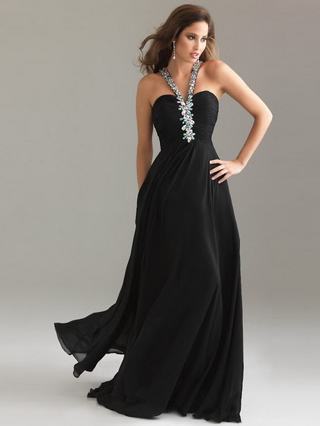 vestidos largo negro