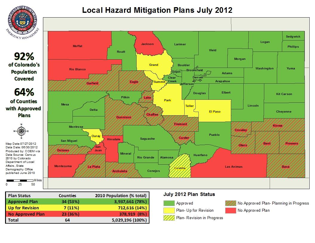 Fires Colorado Map.Colorado Emergency Management Colorado Local Hazard Mitigation