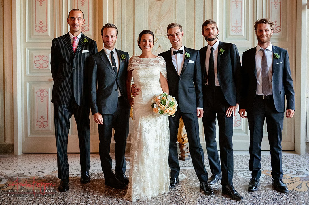 wedding in villa durazzo santa margherita - group shot