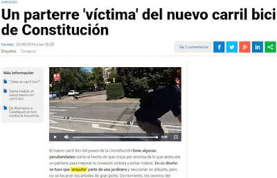 Heraldo de Aragón contra la bicicleta