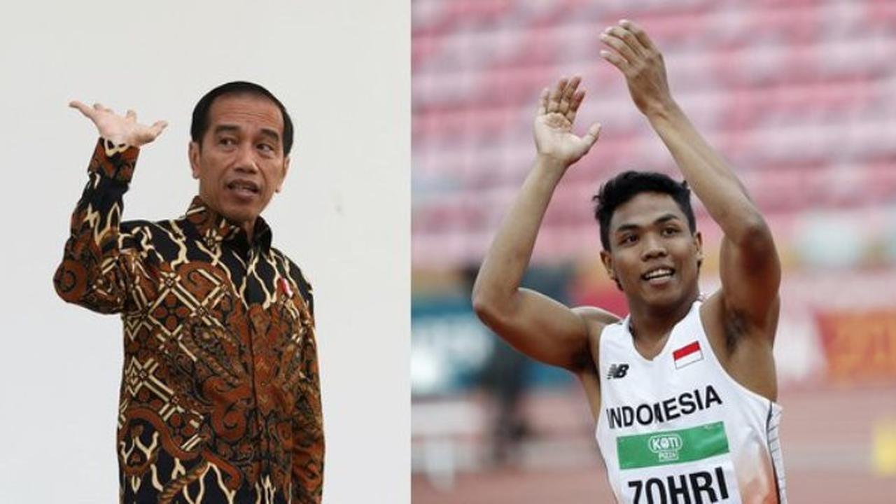 Pesan Jokowi kepada Lalu Zohri untuk Hadapi Asian Games 2018