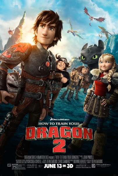 Poster of How To Train Your Dragon 2 (2014) 720p Hindi BRRip Dual Audio Full Movie