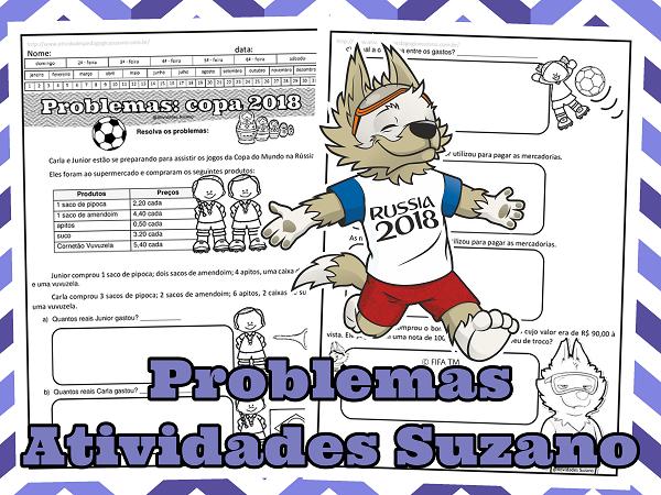 Copa do mundo, situação problema, matemática, raciocínio lógico