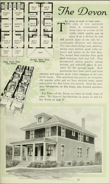 1918 catalog image of Aladdin Devon two- family building
