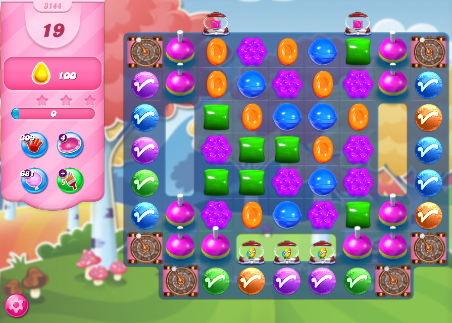 Candy Crush Saga level 3144