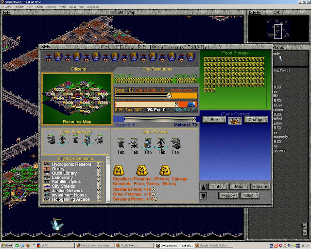 Civilization 2: Test of Time - Sci-Fi Game City Screenshot