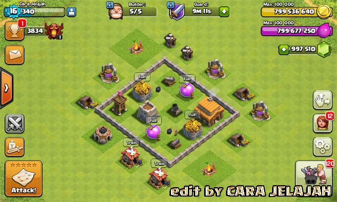 Desain Base Hybrid Clash Of Clans Town Hall 3 Update Terbaru 5
