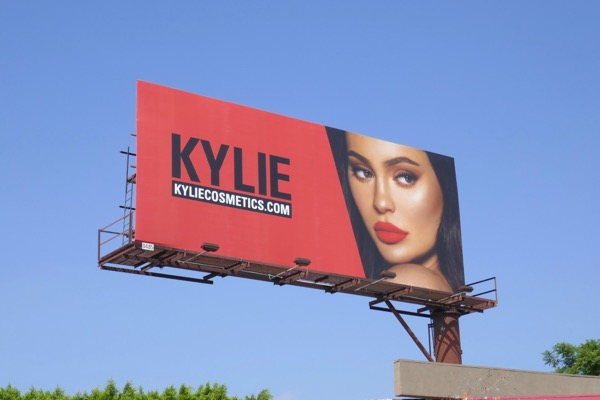 Kylie Cosmetics Fall 2018 billboard
