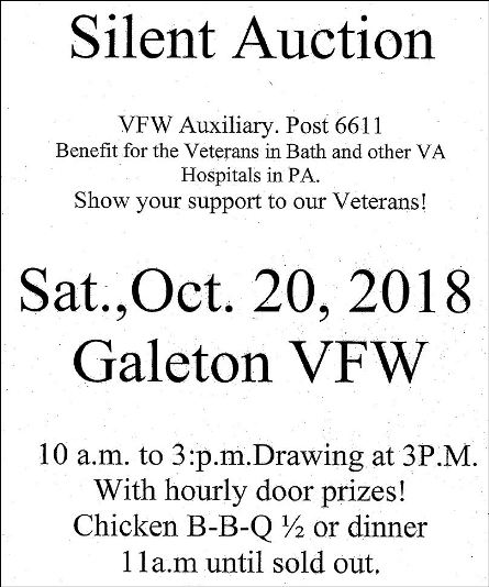 10-20 Galeton VFW Silent Auction