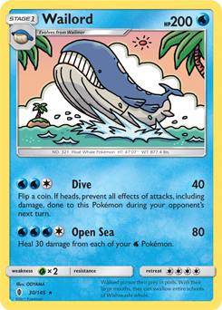 Wailord guardians rising pokemon card review - Carte pokemon wailord ...