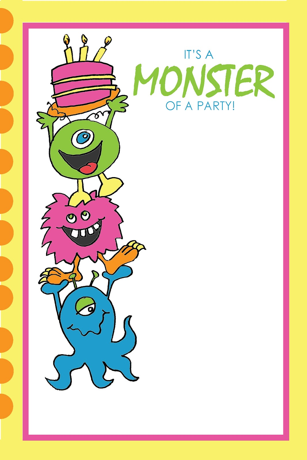 Everyday Art Monster Party Printables Free