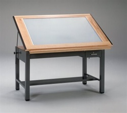Mayline Steel Drafting Lighted Table