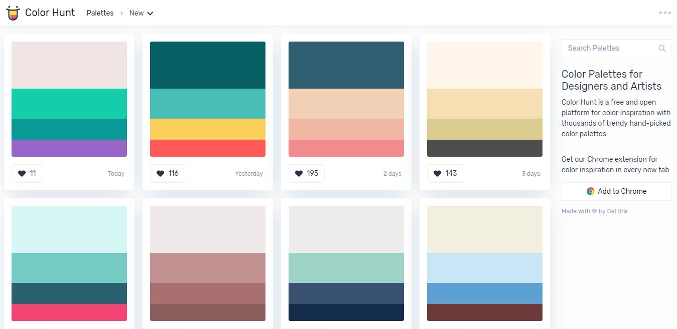Top 5 Best Websites to Choose Color Palette / Schemes