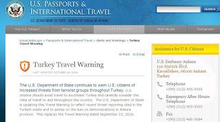 Νέα ταξιδιωτική οδηγία του Στέιτ Ντιπάρτμεντ