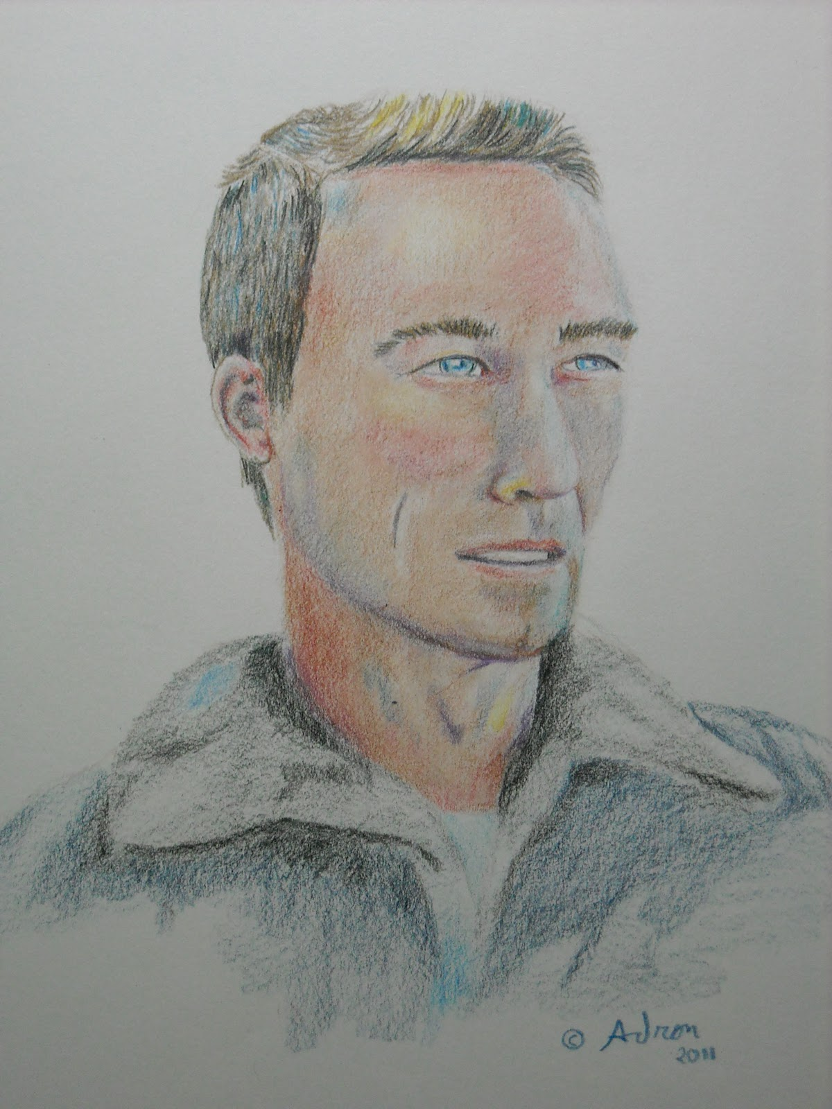 Portraits By Adron A Portrait In Pencil Of A Man Looking Away