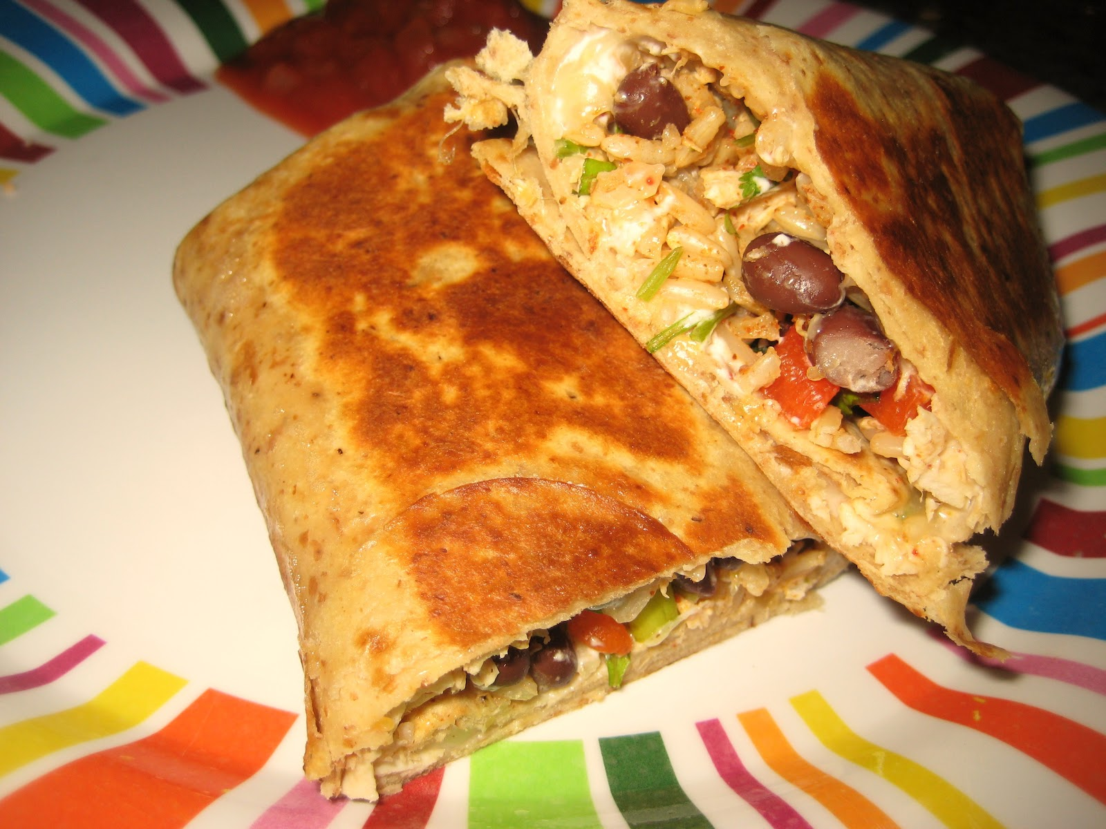 Britt's Apron: Crispy Southwest Chicken Wrap