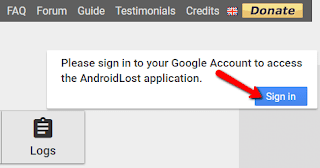 Cara Memantau Handphone orang lain dari jarak jauh menggunakan aplikasi Android Lost