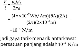 Jawaban soal fisika tentang medan magnetik nomor 6
