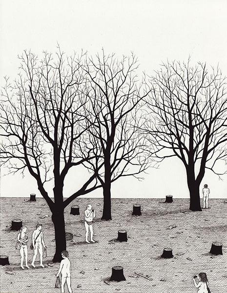 """Nature Walk"" por Ben Tolman, 2014. | imagenes de arte, dibujos chidos, cool art pictures"