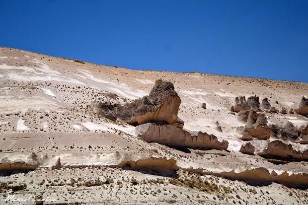 Raggiungendo Chivay, roccia a forma di rana