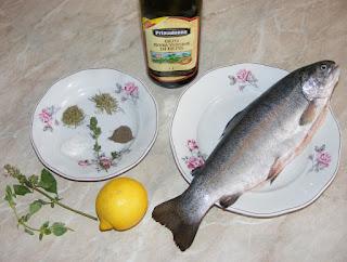 retete pentru gratar, retete culinare, ingrediente peste pastrav la gratar,