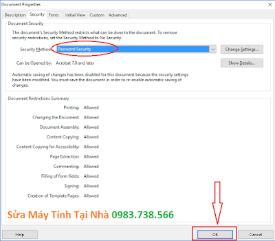 Đặt mật khẩu file PDF với Acrobat - H05
