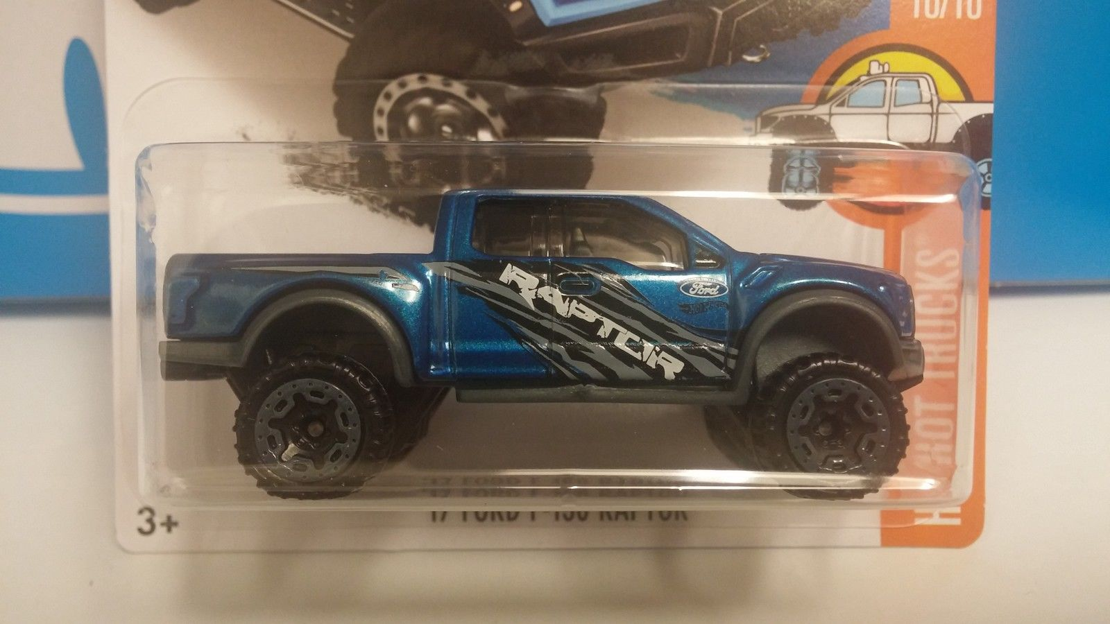 Hot Wheels 2016 New Models 2017 Ford Raptor Pickup Truck Blue 164 With Camper S Scale Diecast Model