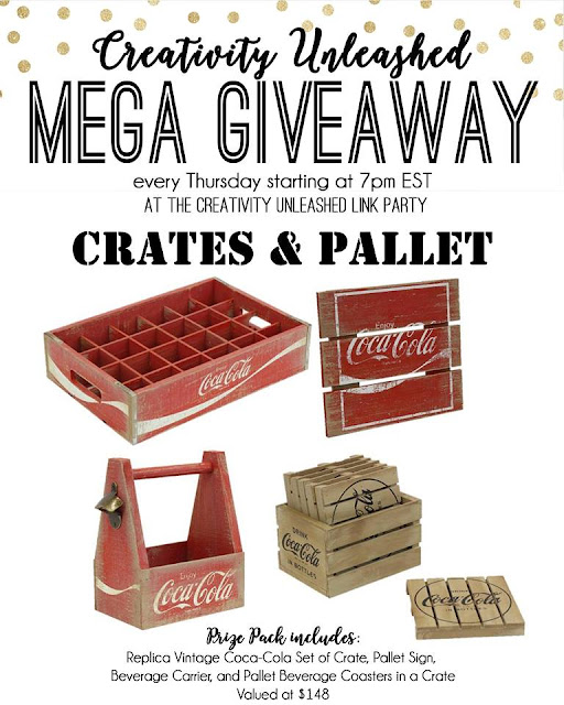 Crates and Pallet Giveaway and Creativity Unleashed link party, MyLove2Create