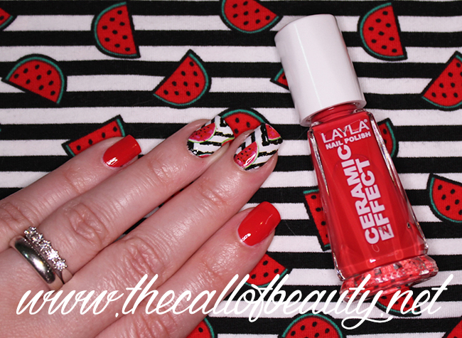 Zig Zags and Watermelon Manicure